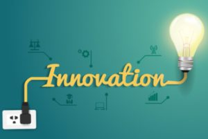 Vector innovation concept with creative light bulb idea